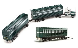 1/64 Mack 3-Trailer Road Train