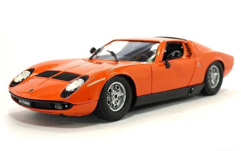 1 18 1968 Lamborghini Miura Bb12072o High Quality Diecast Model