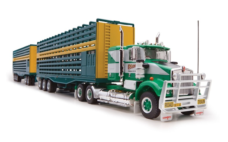 1/64 Bagshaw 3-Trailer Stock Road Train