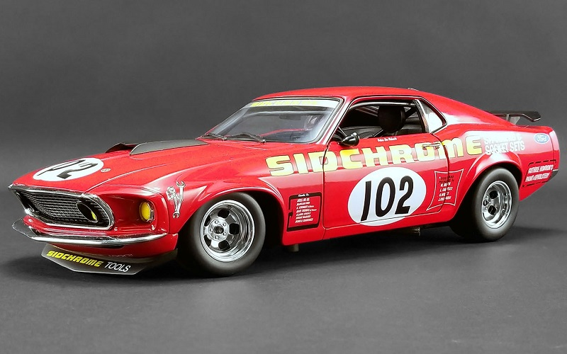 1/18 1969 Sidchrome Mustang #102 Jim Richards