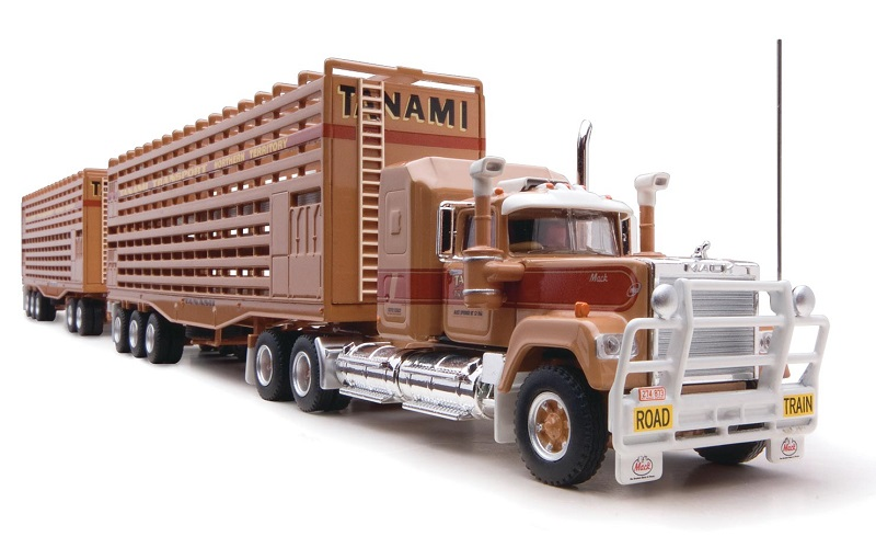 1/64 Tanami Livestock 3-Trailer Road Train